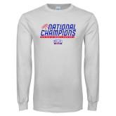 White Long Sleeve T Shirt-2019 Womens Basketball NCAA DII National Champions