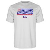 Performance White Tee-2019 Womens Basketball NCAA DII National Champions