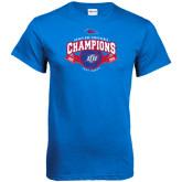 Royal T Shirt-Basketball Conference Champs Ribbon