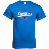 Royal T Shirt-2016 Heartland Conference Champions Softball