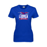 Ladies Royal T Shirt-Lubbock Christian University - Offical Logo