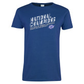 Ladies Royal T Shirt-2019 Womens Basketball National Champions