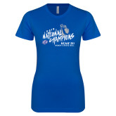 Next Level Ladies SoftStyle Junior Fitted Royal Tee-2019 NCAA DII National Champions