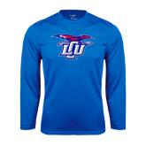 Performance Royal Longsleeve Shirt-Interlocking LCU w/ Chaparral