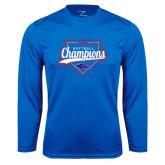 Performance Royal Longsleeve Shirt-2016 Heartland Conference Champions Softball