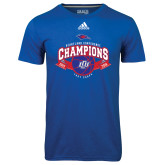 Adidas Climalite Royal Ultimate Performance Tee-Basketball Conference Champs Ribbon