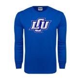 Royal Long Sleeve T Shirt-Interlocking LCU