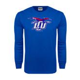 Royal Long Sleeve T Shirt-Interlocking LCU w/ Chaparral