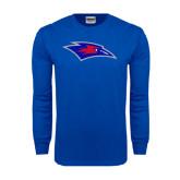 Royal Long Sleeve T Shirt-Chaparral Distressed