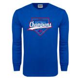 Royal Long Sleeve T Shirt-2016 Heartland Conference Champions Softball