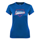 Ladies Syntrel Performance Royal Tee-2016 Heartland Conference Champions Softball