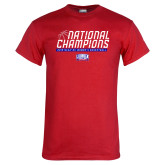 Red T Shirt-2019 Womens Basketball NCAA DII National Champions