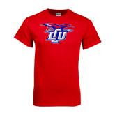 Red T Shirt-Interlocking LCU w/ Chaparral Distressed