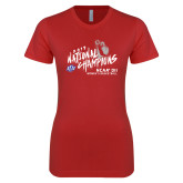 Next Level Ladies SoftStyle Junior Fitted Red Tee-2019 NCAA DII National Champions