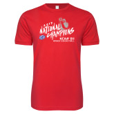 Next Level SoftStyle Red T Shirt-2019 NCAA DII National Champions