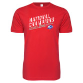 Next Level SoftStyle Red T Shirt-2019 Womens Basketball National Champions