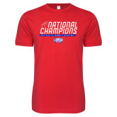 Next Level SoftStyle Red T Shirt-2019 Womens Basketball NCAA DII National Champions