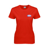 Ladies Red T Shirt-Lubbock Christian University