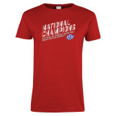Ladies Red T Shirt-2019 Womens Basketball National Champions