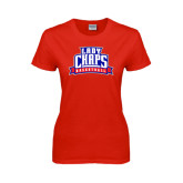 Ladies Red T Shirt-Womens Basketball