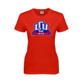 Ladies Red T Shirt-Mom