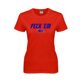 Ladies Red T Shirt-Peck Em