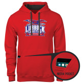 Contemporary Sofspun Red Hoodie-Lubbock Christian University - Offical Logo