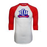 White/Red Raglan Baseball T-Shirt-Alumni