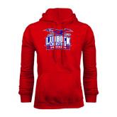 Red Fleece Hoodie-Lubbock Christian University - Offical Logo