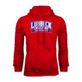 Red Fleece Hoodie-Lubbock Christian University