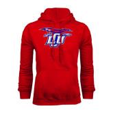 Red Fleece Hoodie-Interlocking LCU w/ Chaparral