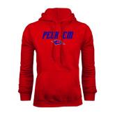Red Fleece Hoodie-Peck Em
