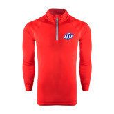 Under Armour Red Tech 1/4 Zip Performance Shirt-Interlocking LCU