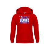 Youth Red Fleece Hoodie-Lubbock Christian University - Offical Logo