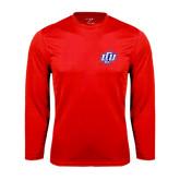 Performance Red Longsleeve Shirt-Interlocking LCU