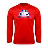 Performance Red Longsleeve Shirt-Womens Basketball