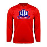 Performance Red Longsleeve Shirt-Alumni