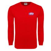 Red Long Sleeve T Shirt-Lubbock Christian University
