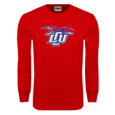 Red Long Sleeve T Shirt-Interlocking LCU w/ Chaparral