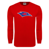 Red Long Sleeve T Shirt-Chaparral