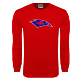Red Long Sleeve T Shirt-Chaparral Distressed