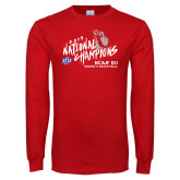 Red Long Sleeve T Shirt-2019 NCAA DII National Champions