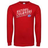 Red Long Sleeve T Shirt-2019 Womens Basketball National Champions