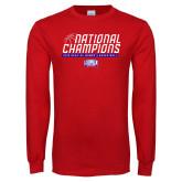 Red Long Sleeve T Shirt-2019 Womens Basketball NCAA DII National Champions