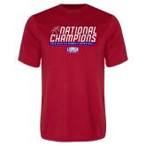 Performance Red Tee-2019 Womens Basketball NCAA DII National Champions