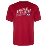 Performance Red Tee-2019 Womens Basketball National Champions