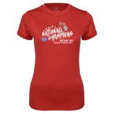 Ladies Syntrel Performance Red Tee-2019 NCAA DII National Champions
