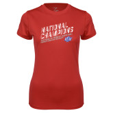Ladies Syntrel Performance Red Tee-2019 Womens Basketball National Champions