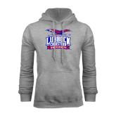 Grey Fleece Hoodie-Lubbock Christian University - Offical Logo