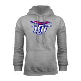 Grey Fleece Hoodie-Interlocking LCU w/ Chaparral